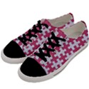 PUZZLE1 WHITE MARBLE & PINK DENIM Men s Low Top Canvas Sneakers View2
