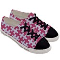 PUZZLE1 WHITE MARBLE & PINK DENIM Men s Low Top Canvas Sneakers View3