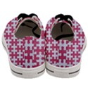 PUZZLE1 WHITE MARBLE & PINK DENIM Men s Low Top Canvas Sneakers View4