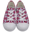 PUZZLE1 WHITE MARBLE & PINK DENIM Kids  Low Top Canvas Sneakers View1