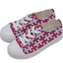 PUZZLE1 WHITE MARBLE & PINK DENIM Kids  Low Top Canvas Sneakers View2