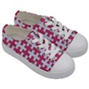 PUZZLE1 WHITE MARBLE & PINK DENIM Kids  Low Top Canvas Sneakers View3