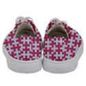 PUZZLE1 WHITE MARBLE & PINK DENIM Kids  Low Top Canvas Sneakers View4
