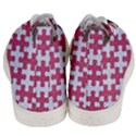 PUZZLE1 WHITE MARBLE & PINK DENIM Men s Mid-Top Canvas Sneakers View4