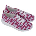 PUZZLE1 WHITE MARBLE & PINK DENIM Women s Lightweight Sports Shoes View3