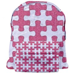 Puzzle1 White Marble & Pink Denim Giant Full Print Backpack by trendistuff