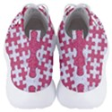 PUZZLE1 WHITE MARBLE & PINK DENIM Men s Lightweight High Top Sneakers View4