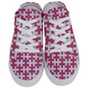 PUZZLE1 WHITE MARBLE & PINK DENIM Half Slippers View1