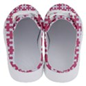 PUZZLE1 WHITE MARBLE & PINK DENIM Half Slippers View4