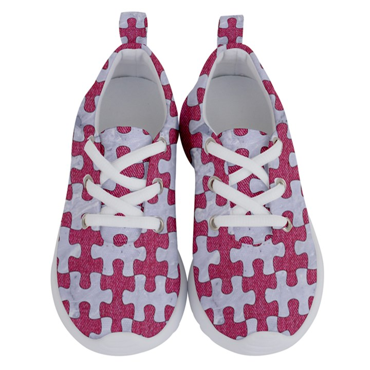 PUZZLE1 WHITE MARBLE & PINK DENIM Running Shoes