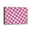 HOUNDSTOOTH2 WHITE MARBLE & PINK DENIM Mini Canvas 7  x 5  View1