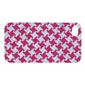 HOUNDSTOOTH2 WHITE MARBLE & PINK DENIM Apple iPhone 4/4S Hardshell Case View1