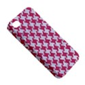 HOUNDSTOOTH2 WHITE MARBLE & PINK DENIM Apple iPhone 4/4S Hardshell Case View5