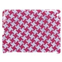 HOUNDSTOOTH2 WHITE MARBLE & PINK DENIM Apple iPad 3/4 Hardshell Case (Compatible with Smart Cover) View1