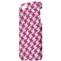 HOUNDSTOOTH2 WHITE MARBLE & PINK DENIM Apple iPhone 5 Hardshell Case View3