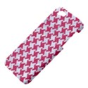 HOUNDSTOOTH2 WHITE MARBLE & PINK DENIM Apple iPhone 5 Hardshell Case View4