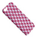 HOUNDSTOOTH2 WHITE MARBLE & PINK DENIM Apple iPhone 5 Hardshell Case View5