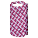 HOUNDSTOOTH2 WHITE MARBLE & PINK DENIM Samsung Galaxy S III Hardshell Case (PC+Silicone) View3