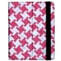 HOUNDSTOOTH2 WHITE MARBLE & PINK DENIM Apple iPad 3/4 Flip Case View2