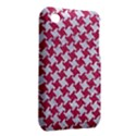 HOUNDSTOOTH2 WHITE MARBLE & PINK DENIM iPhone 3S/3GS View2