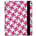 HOUNDSTOOTH2 WHITE MARBLE & PINK DENIM Samsung Galaxy Tab 8.9  P7300 Flip Case View2