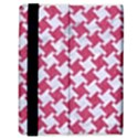HOUNDSTOOTH2 WHITE MARBLE & PINK DENIM Samsung Galaxy Tab 8.9  P7300 Flip Case View3