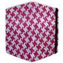 HOUNDSTOOTH2 WHITE MARBLE & PINK DENIM Samsung Galaxy Tab 8.9  P7300 Flip Case View4