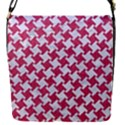 HOUNDSTOOTH2 WHITE MARBLE & PINK DENIM Flap Covers (S)  View1