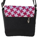 HOUNDSTOOTH2 WHITE MARBLE & PINK DENIM Flap Covers (S)  View2