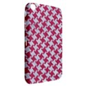 HOUNDSTOOTH2 WHITE MARBLE & PINK DENIM Samsung Galaxy Tab 3 (8 ) T3100 Hardshell Case  View2