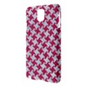 HOUNDSTOOTH2 WHITE MARBLE & PINK DENIM Samsung Galaxy Note 3 N9005 Hardshell Case View3