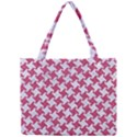 HOUNDSTOOTH2 WHITE MARBLE & PINK DENIM Mini Tote Bag View1