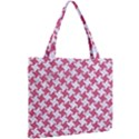 HOUNDSTOOTH2 WHITE MARBLE & PINK DENIM Mini Tote Bag View2