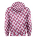 HOUNDSTOOTH2 WHITE MARBLE & PINK DENIM Men s Pullover Hoodie View2