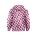 HOUNDSTOOTH2 WHITE MARBLE & PINK DENIM Kids  Pullover Hoodie View2