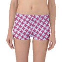 HOUNDSTOOTH2 WHITE MARBLE & PINK DENIM Boyleg Bikini Bottoms View1