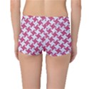 HOUNDSTOOTH2 WHITE MARBLE & PINK DENIM Boyleg Bikini Bottoms View2