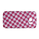 HOUNDSTOOTH2 WHITE MARBLE & PINK DENIM Galaxy S6 Edge View1