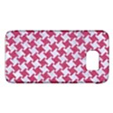 HOUNDSTOOTH2 WHITE MARBLE & PINK DENIM Galaxy S6 View1