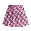 HOUNDSTOOTH2 WHITE MARBLE & PINK DENIM Mini Flare Skirt View1