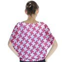 HOUNDSTOOTH2 WHITE MARBLE & PINK DENIM Blouse View2