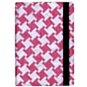 HOUNDSTOOTH2 WHITE MARBLE & PINK DENIM Apple iPad Pro 9.7   Flip Case View2