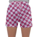 HOUNDSTOOTH2 WHITE MARBLE & PINK DENIM Sleepwear Shorts View1