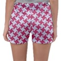 HOUNDSTOOTH2 WHITE MARBLE & PINK DENIM Sleepwear Shorts View2