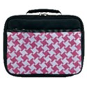 HOUNDSTOOTH2 WHITE MARBLE & PINK DENIM Lunch Bag View1