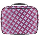 HOUNDSTOOTH2 WHITE MARBLE & PINK DENIM Full Print Lunch Bag View2