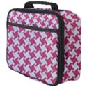 HOUNDSTOOTH2 WHITE MARBLE & PINK DENIM Full Print Lunch Bag View4
