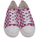 HOUNDSTOOTH2 WHITE MARBLE & PINK DENIM Women s Low Top Canvas Sneakers View1