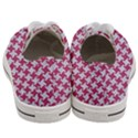 HOUNDSTOOTH2 WHITE MARBLE & PINK DENIM Women s Low Top Canvas Sneakers View4