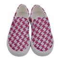 HOUNDSTOOTH2 WHITE MARBLE & PINK DENIM Women s Canvas Slip Ons View1